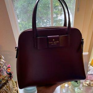 Burgundy Kate Spade Maise Matthews Street bag